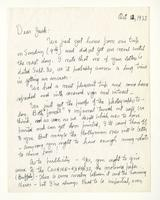 Charles Burchfield to John Baur, Oct. 12, 1955