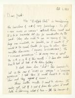 Charles Burchfield to John Baur, Oct. 1, 1955