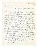 Charles Burchfield to Rosalind Irvine, Sept. 25, 1955