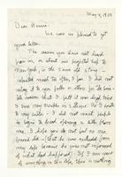 Charles Burchfield to Rosalind Irvine, dated May 4, 1957