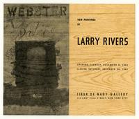 NEW PAINTINGS BY LARRY RIVERS OPENING TUESDAY, DECEMBER, 5, 1961