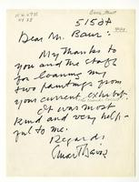 Stuart Davis to John Baur, May 05, 1964.