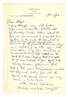 Philip Evergood to Lloyd, Jan 9, 1958