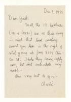 Charles Burchfield to John Baur, Dec. 9, 1955