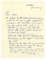 Philip Evergood to Jack, June 3rd 1959.