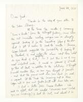 Charles Burchfield to John Baur, June 22, 1955