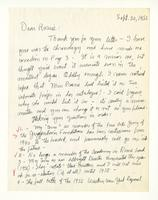 Charles Burchfield to Rosalind Irvine, Sept. 30, 1955