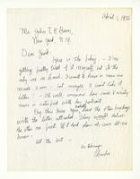 Charles Burchfield to T. H. Baur, April 1, 1955