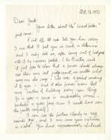 Charles Burchfield to John Baur, Oct. 13, 1955