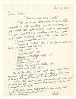 Charles Burchfield to Rosalind Irvine, Oct. 17, 1955