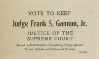 Re-elect Judge Frank S. Gannon, Jr. for Supreme Court justice