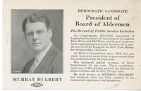 Hulbert for president of board of alderman