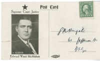 Postcard promoting Edward Ward McMahon