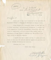 Letter in support of George A. Wingate
