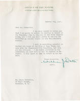 Letter from Mayor William Walton of Long Beach supporting John B. Johnston