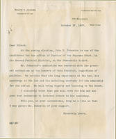 Jacobs letter endorsing John B. Johnston
