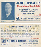 Handbill urging support for James O'Malley