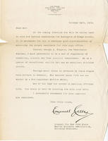 Letter from Celler endorsing George A. Wingate for surrogate