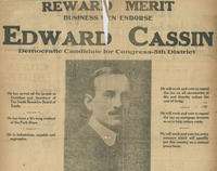 Newspaper advertisement endorsing Edward Cassin