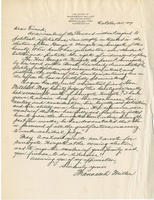 Miller letter supporting George A. Wingate