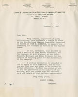Letter from the John B. Johnston Non-Partisan Lawyers Committee