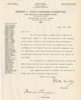 Letter from Conboy supporting Robert L. Luce