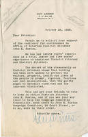 Loomis letter supporting John E. Ruston