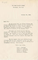 Letter asking voters to choose William R. Bayes