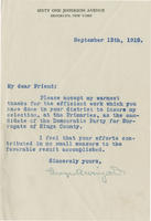 Letter from George A. Wingate thanking supporters