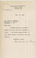 Letter from Mitchell May to John R. McDonald