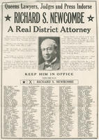 Elect Richard S. Newcombe as district attorney poster