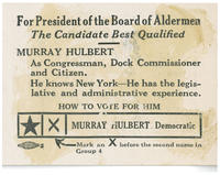 Hulbert for president of the board of alderman
