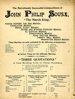 The  Marvelously Successful Compositions of John Philip Sousa [advertisement]