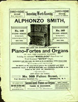 Alphonzo Smith Offers His Large and Extensive Assortment of Piano-Fortes and Organs of All the Leading Makers [advertisement]