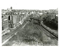 View of Webster Ave. And Railroad Tracks