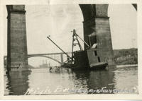 Sinking Of Coal barge At High Bridge (2 of 3)