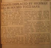 Tenants Displaced By Highway Will Be Housed