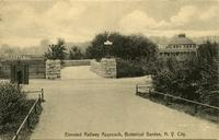 Elevated railway approach, Botanical Garden, N.Y. City