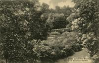 Boulder Bridge across the Bronx River. New York Botanical Garden