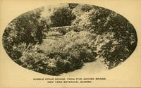 Rubble Stone Bridge, from Five-Arched Bridge. New York Botanical Garden