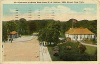 Entrance to Bronx Park from R. R. station, 180th Street, New York