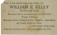 Kelly for county clerk handbill in Yiddish and English