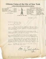 Schieffelin fundraising letter for George A. Wingate's fight against bossism and demagogism