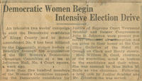 Democratic women and the upcoming election