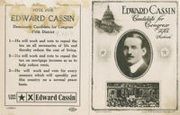 Cassin for Congress handbill