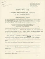 Chief Joseph nomination form