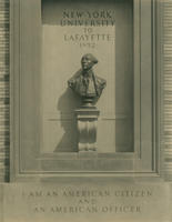 Lafayette bust and inscription