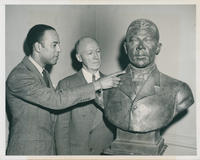 Booker T. Washington bust with sculptor