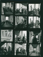 Children in the colonnade contact sheet