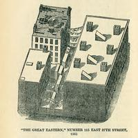 """The Great Eastern,"" number 115 East 37th Street, 1865."